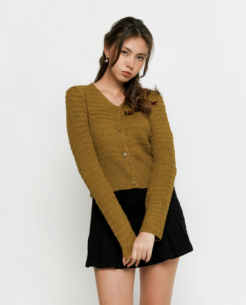 Esthera Knit Cardigan Tops OSMOSE-STORES F Olive