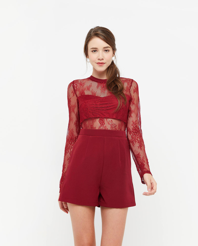 Furiosa Lace Mesh Romper One-piece suits OSMOSE-STORES
