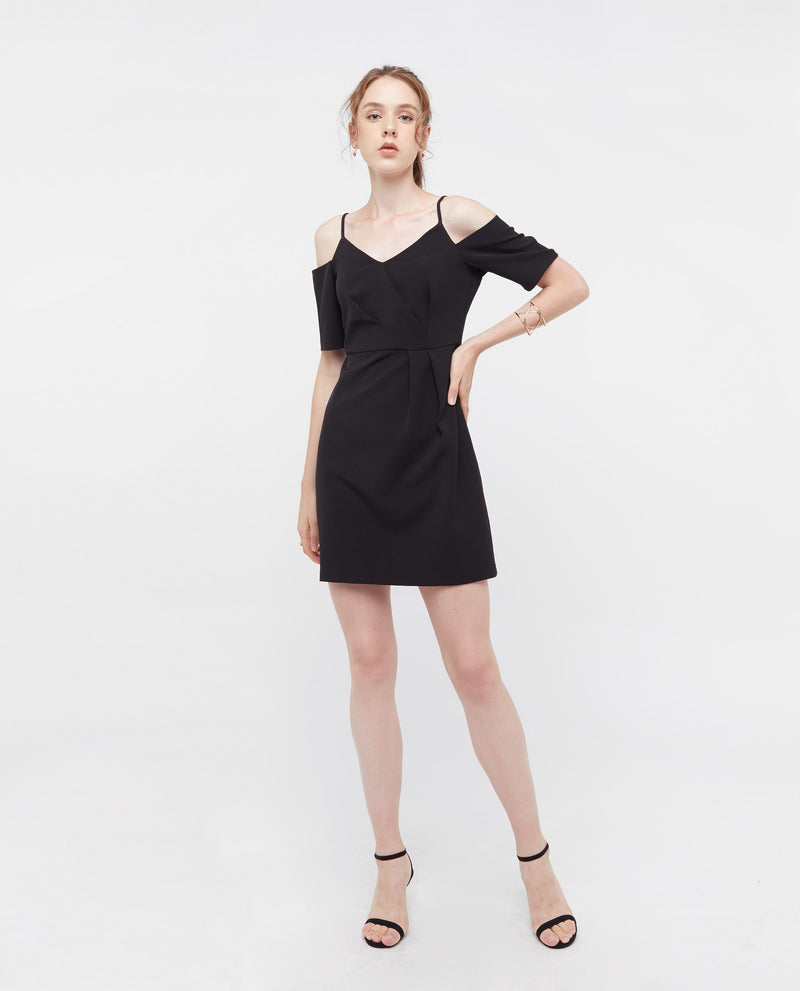 Gertrude Off Shoulder A Line Dress Dresses OSMOSE-STORES