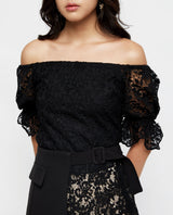 Harriett Lace Offshoulder Top Tops OSMOSE-STORES