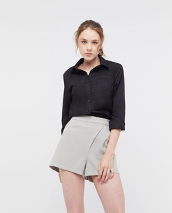 Hermant Buttoned Shirt Tops OSMOSE-STORES XS Black