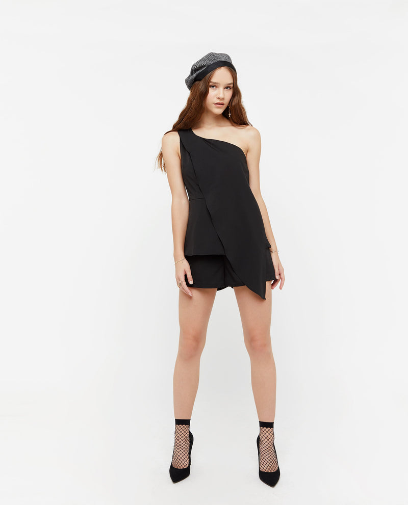 Hyunra Toga Side Romper One-piece suits OSMOSE-STORES XS Black