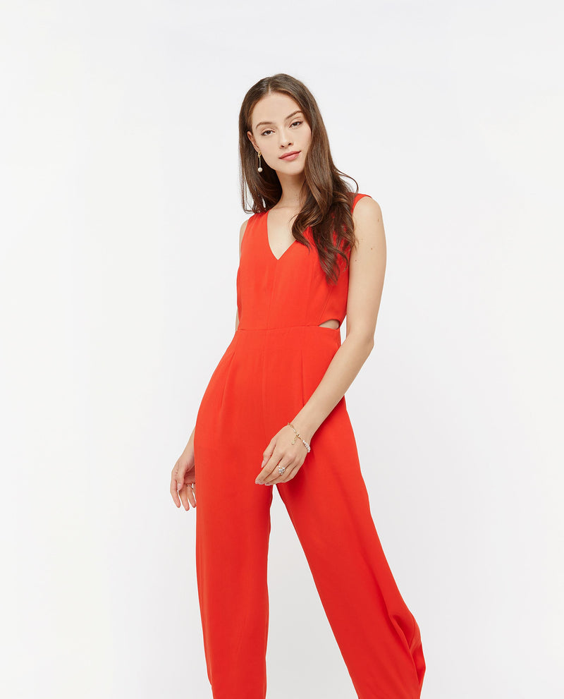 Iorwerth Side Slit Jumpsuit One-piece suits OSMOSE-STORES XS Red