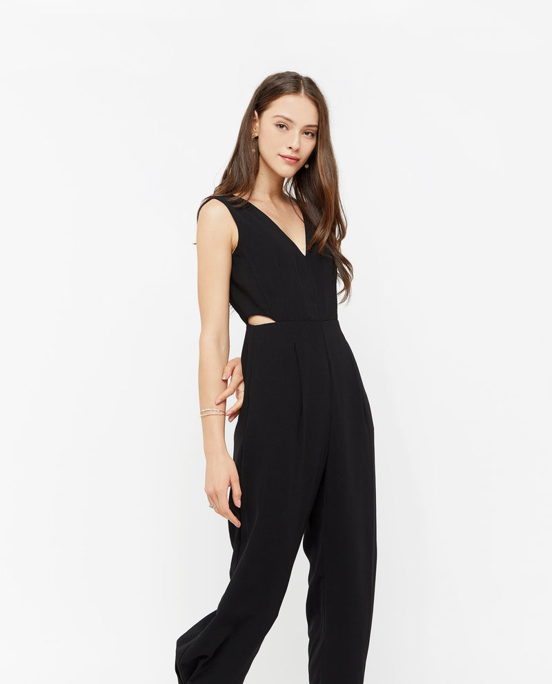 Iorwerth Side Slit Jumpsuit One-piece suits OSMOSE-STORES XS Black