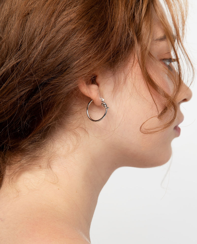 Iva Knotted Hoop Earrings Earrings OSMOSE-STORES