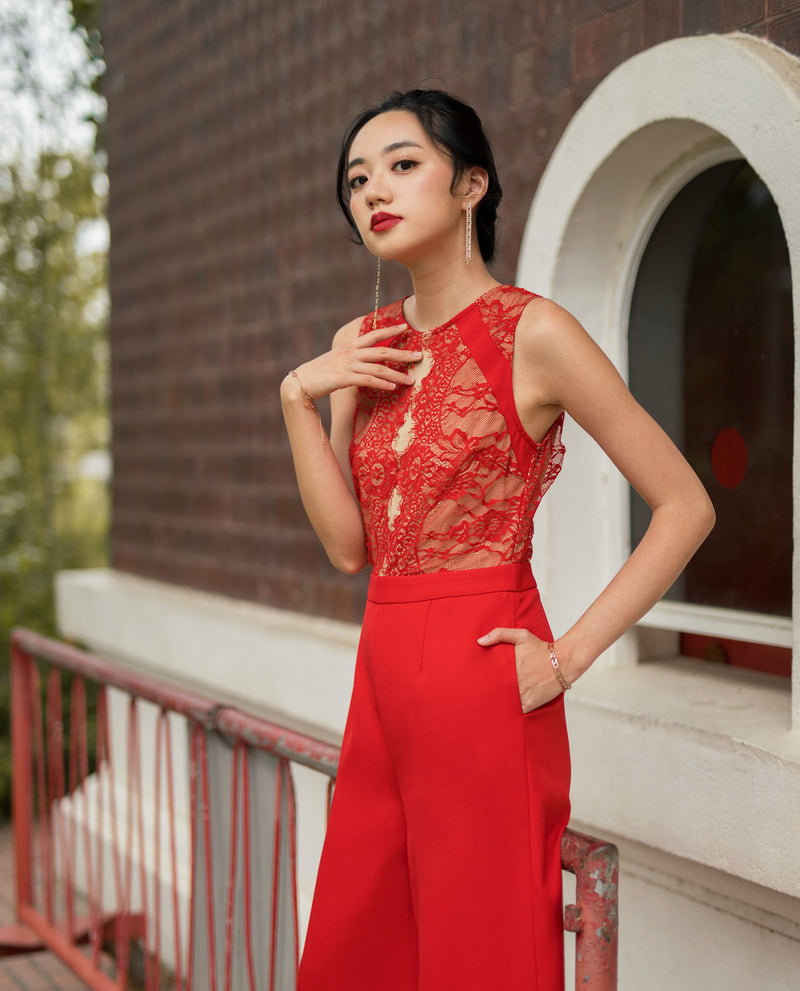 Ivett Lace Jumpsuit One-piece suits OSMOSE-STORES
