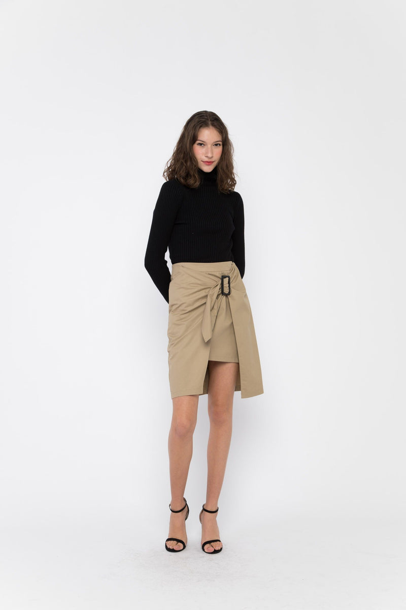 Joanna Wrap Trench Skirt Bottoms OSMOSE-STORES