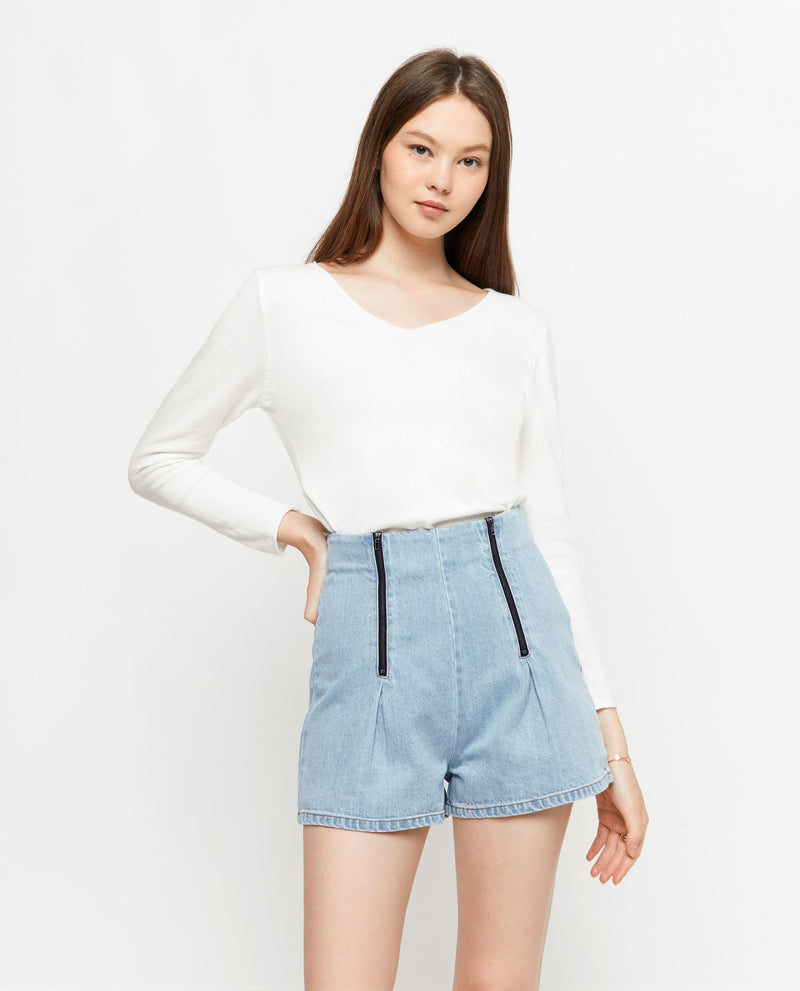 Josi Tailored Denim Shorts Shorts OSMOSE-STORES