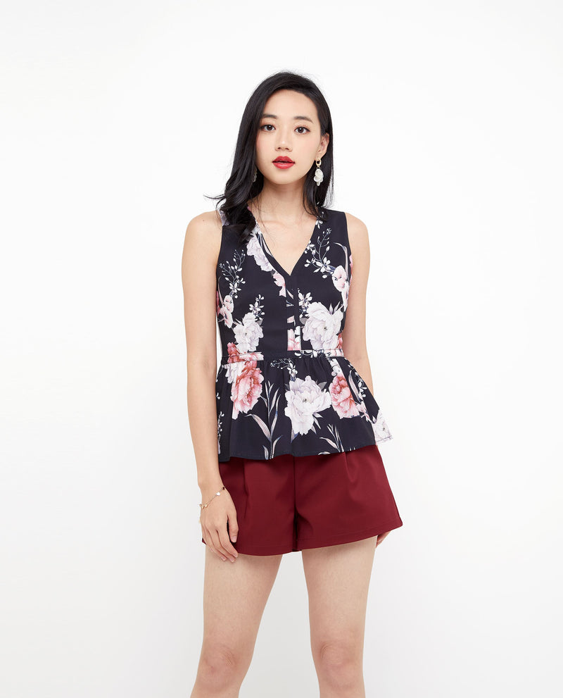 Kassia Floral Top Tops OSMOSE-STORES