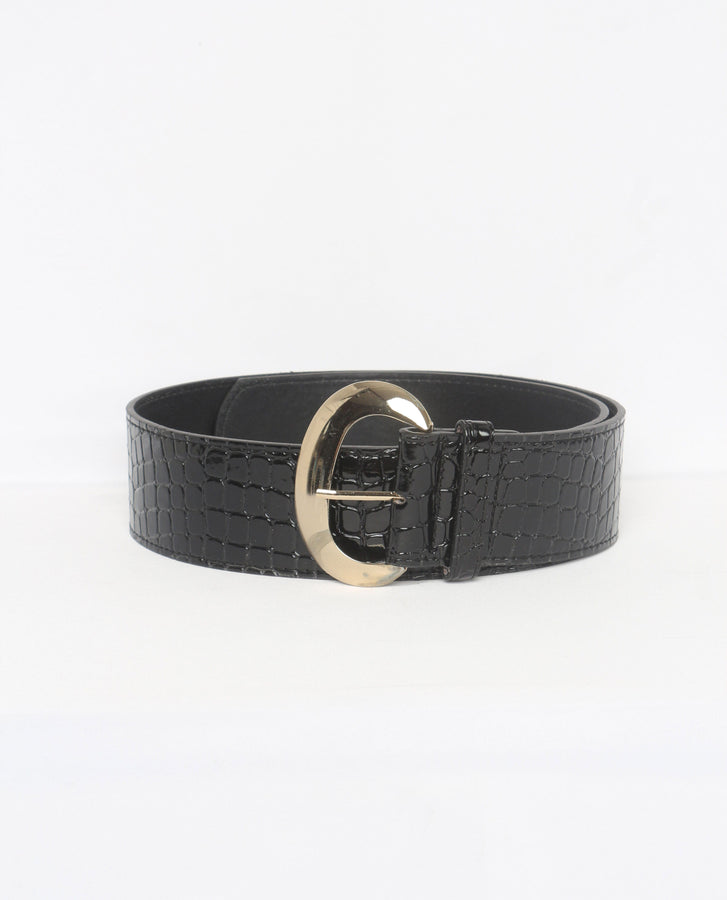 Kaysie Wide Leather Belt