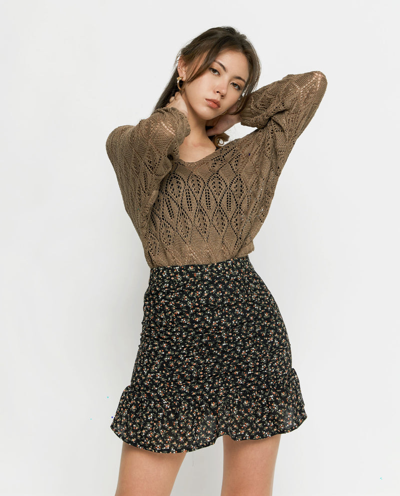 Leena Knit Top Tops OSMOSE-STORES F Brown