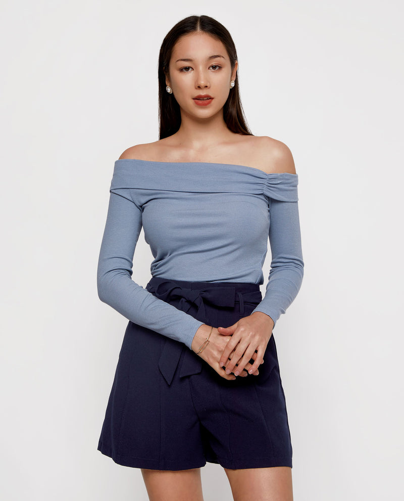 Leighton Off Shoulder Knit Top Tops OSMOSE-STORES