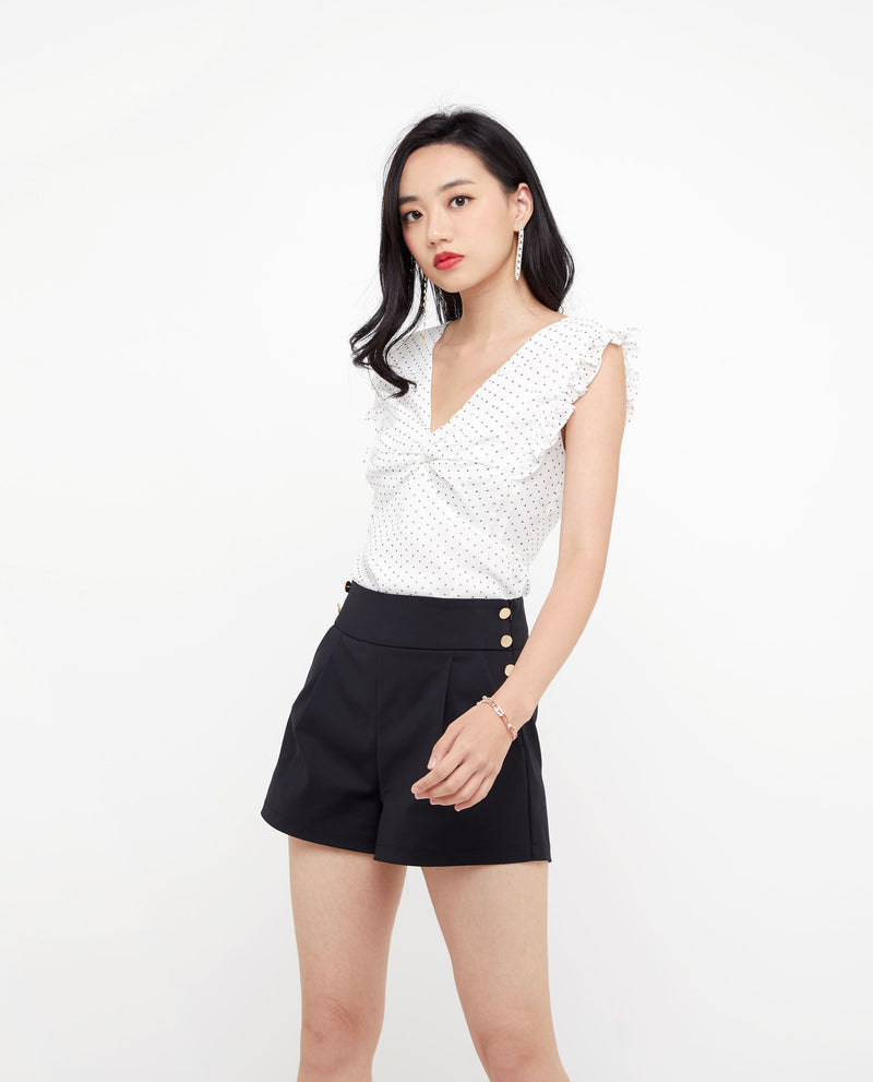 Lenee Button Tailored Shorts Shorts OSMOSE-STORES