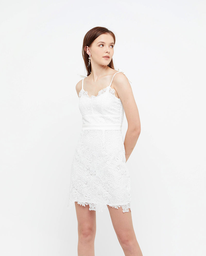 Lisha Lace Cami Dress Dresses OSMOSE-STORES XS White