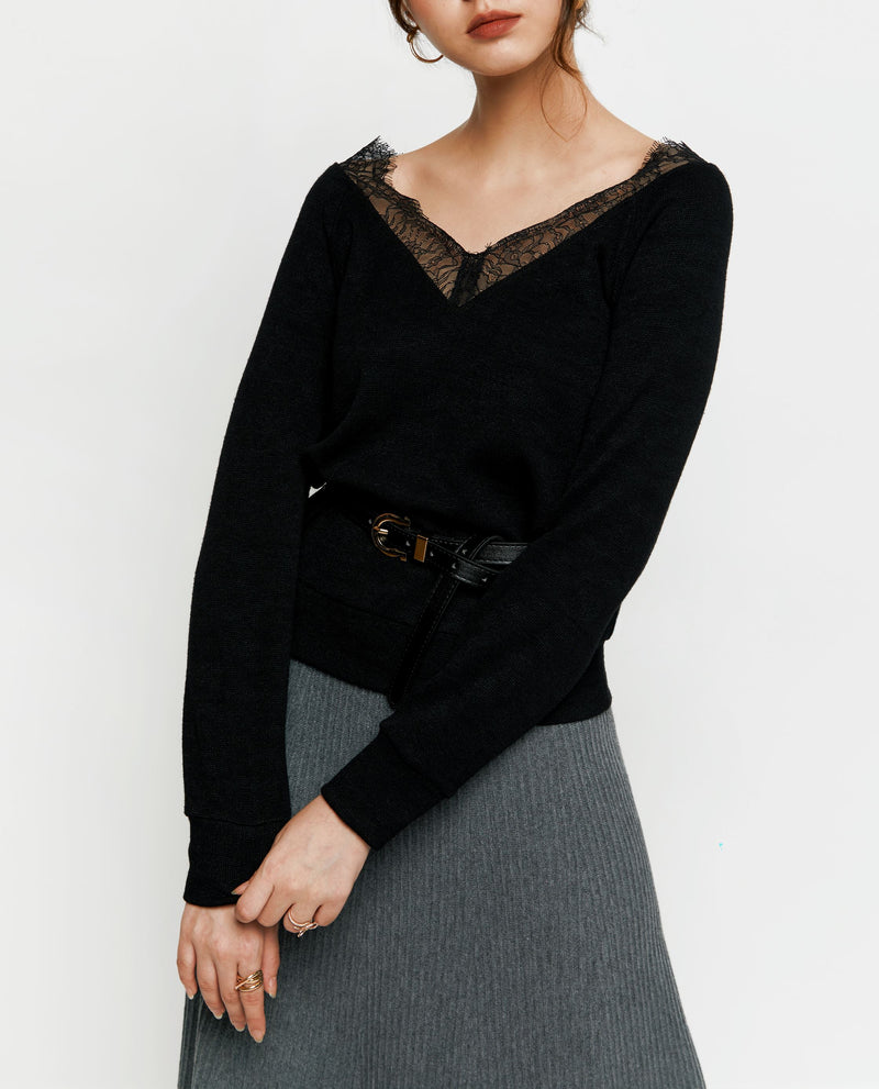 Mara Lace Sweater Tops OSMOSE-STORES