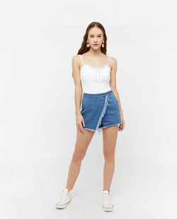 Meden Denim Origami Skort Bottoms OSMOSE-STORES XS Blue