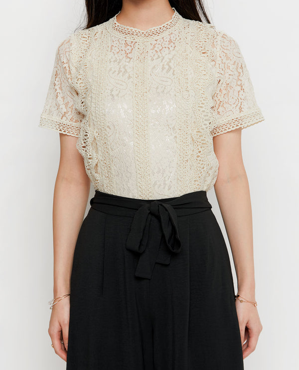 Meryle Lace Top Tops OSMOSE-STORES
