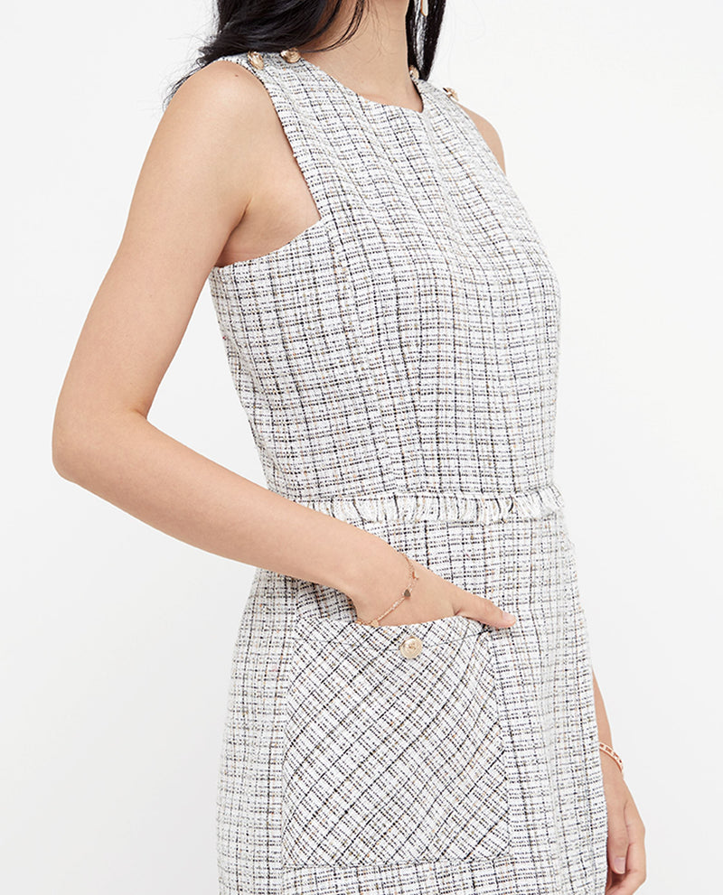 Milana Tweed Romper One-piece suits OSMOSE-STORES