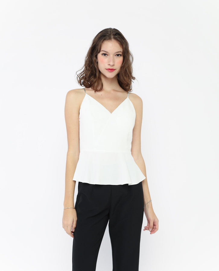 Mimoa Bejeweled Strap Top