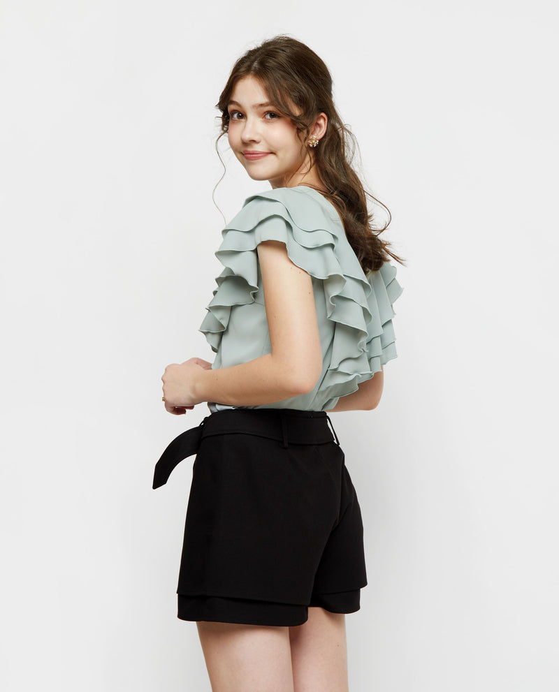 Mora Ruffle Pastel Top Tops OSMOSE-STORES