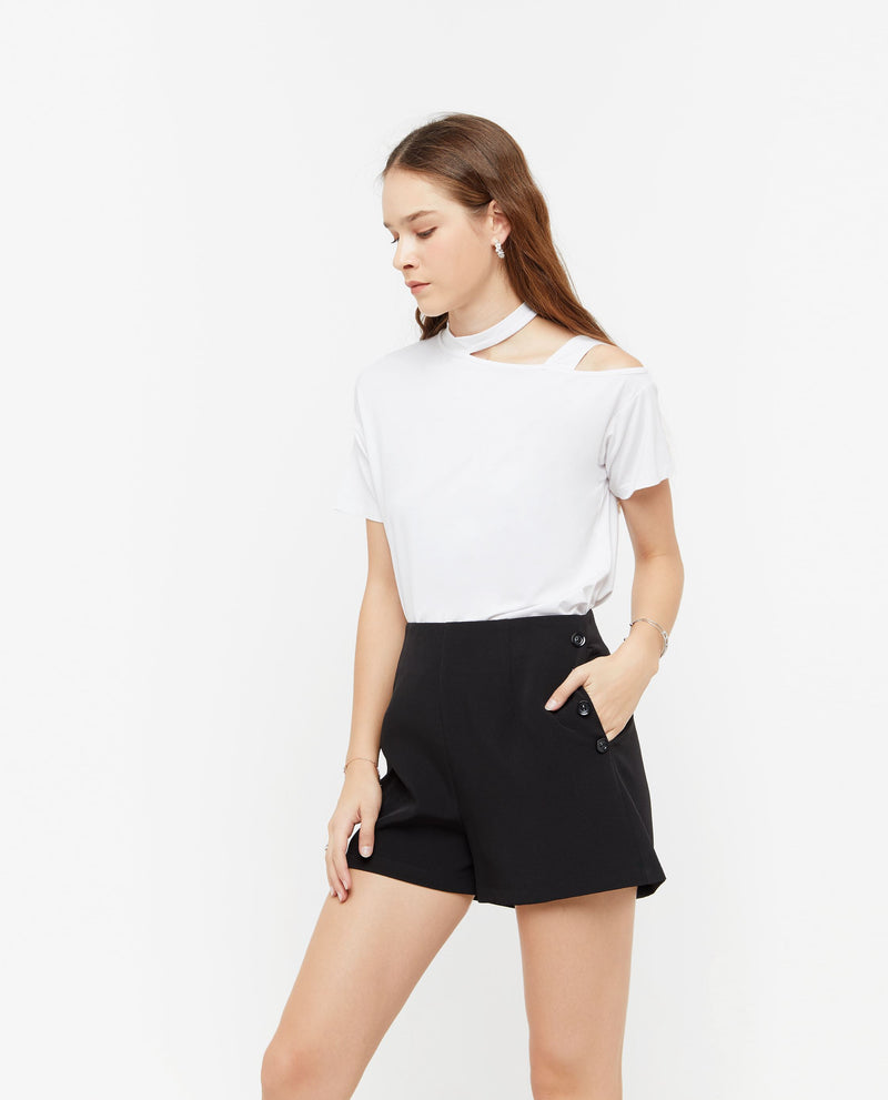 Neo A Line Button Shorts Bottoms OSMOSE-STORES