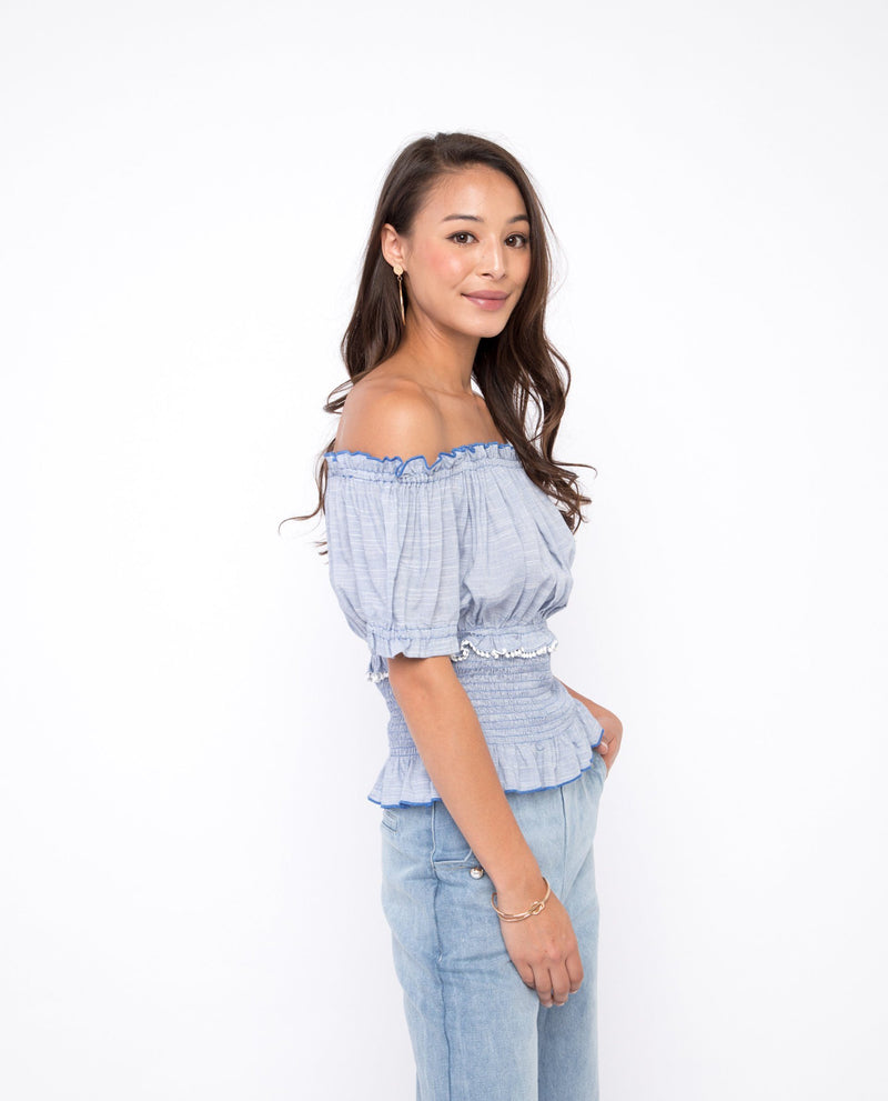 Nessi Off Shoulder Top Tops OSMOSE-STORES