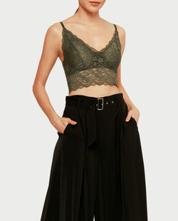 Nikki Lace Bralette Tops OSMOSE-STORES F Green