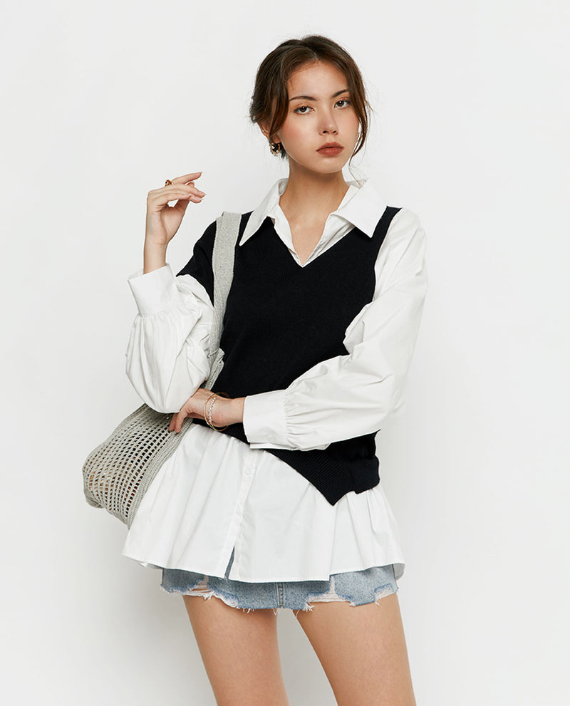 Noella Knit Shirtdress Tops OSMOSE-STORES