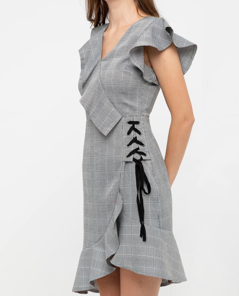Nopherie Ruffled Plaid Dress Dresses OSMOSE-STORES