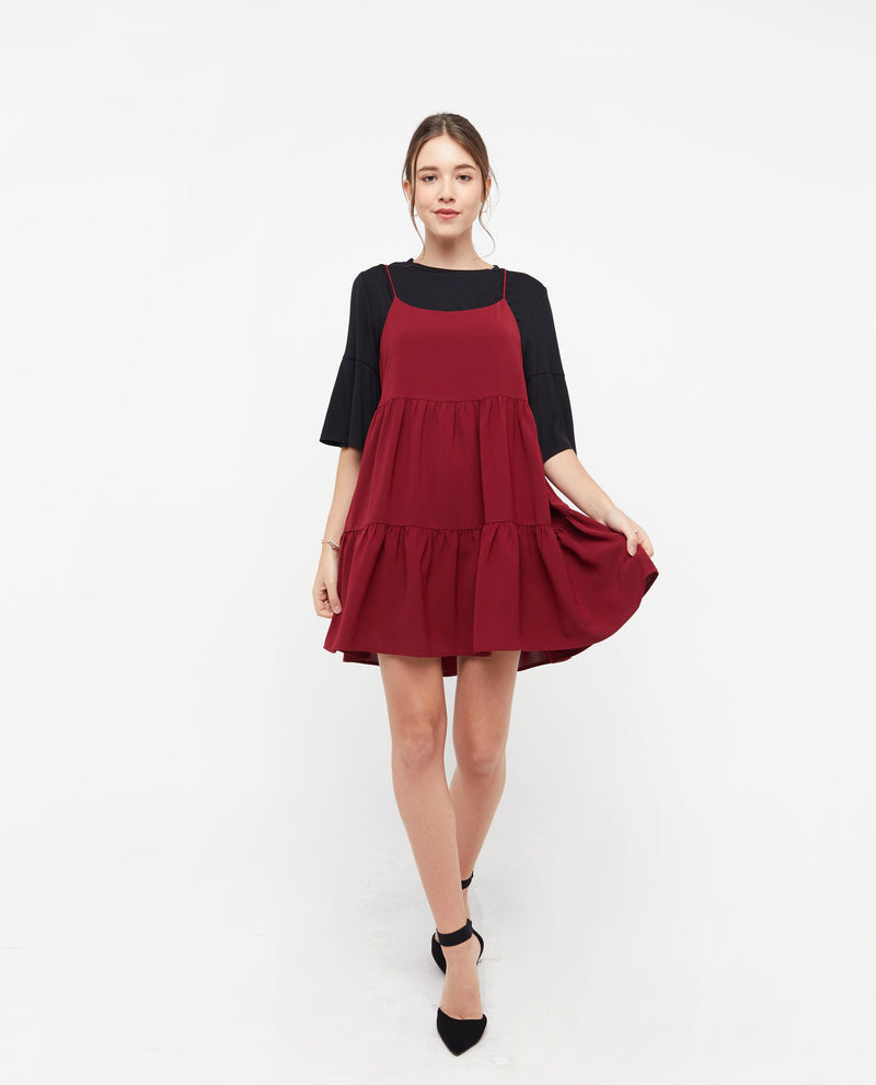 Ovine Babydoll Dress Dresses OSMOSE-STORES F Red