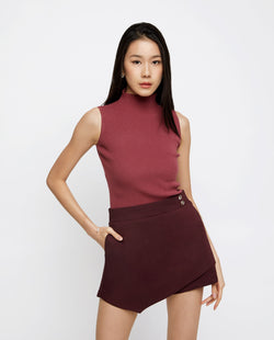 Owen High-Neck Knit Top Tops OSMOSE-STORES