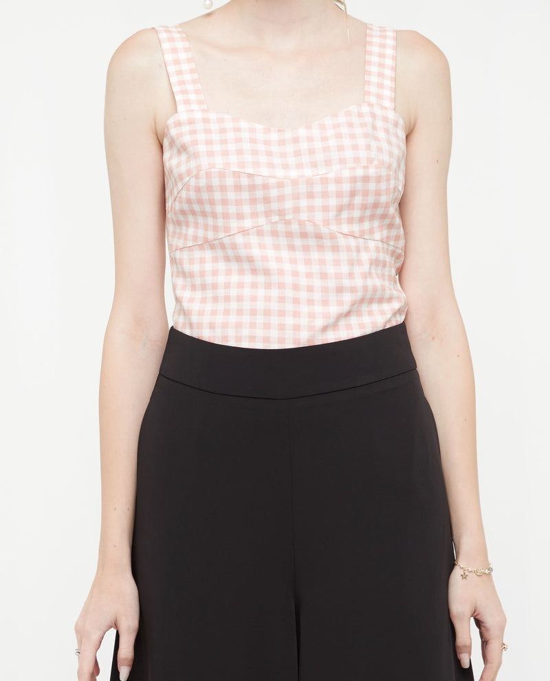 Phaedra Checkered Top Tops OSMOSE-STORES