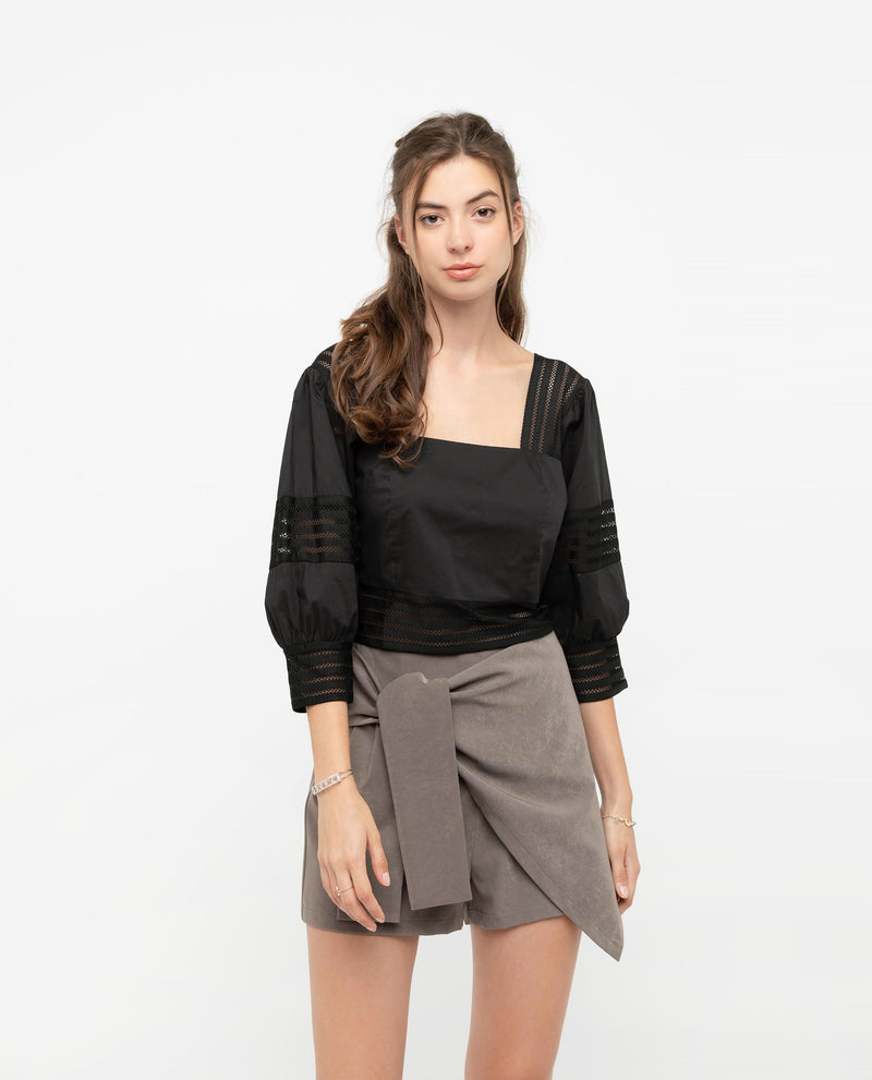 Posera Cross Wrap Skort Bottoms OSMOSE-STORES XS Grey