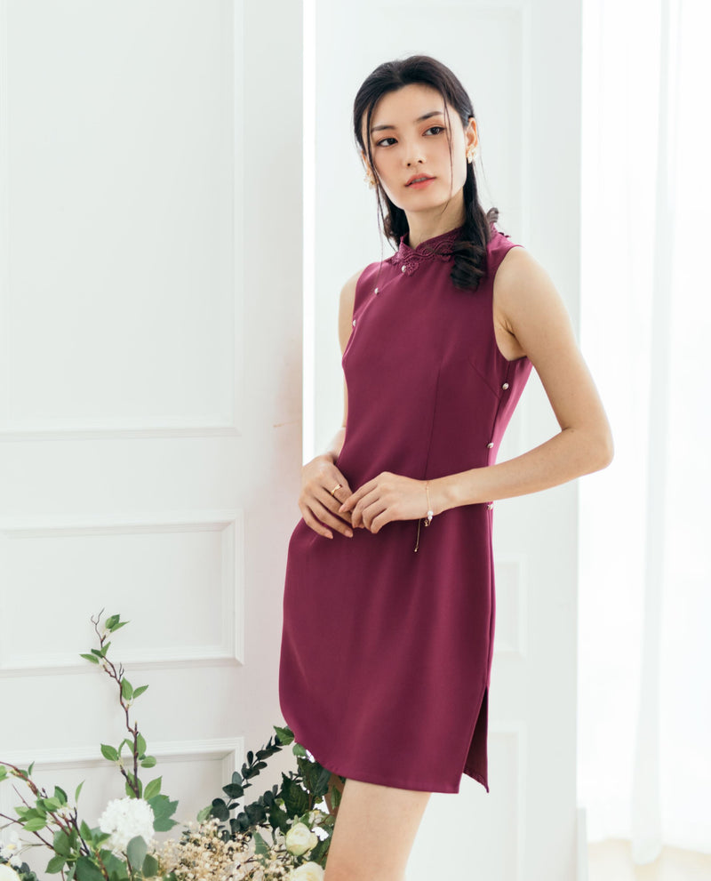 Preta Cheongsam Dress Short Dress OSMOSE-STORES