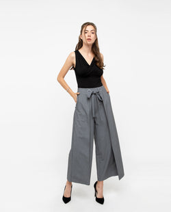 Prodeaux Asymmetrical Origami Pants Bottoms OSMOSE-STORES XS Grey