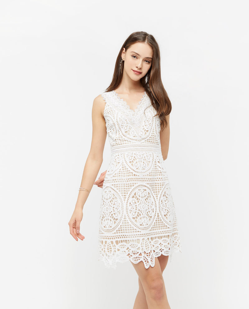Qair Lace Overlay Dress Dresses OSMOSE-STORES