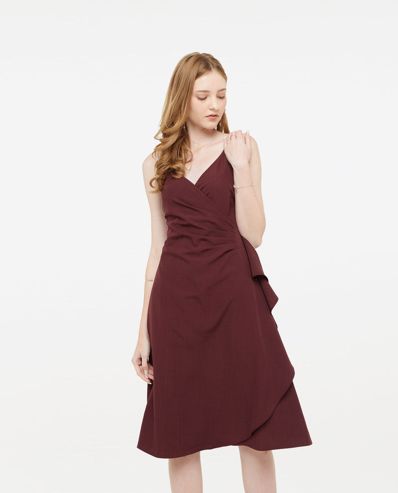 Qartell Wrap Dress Dresses OSMOSE-STORES