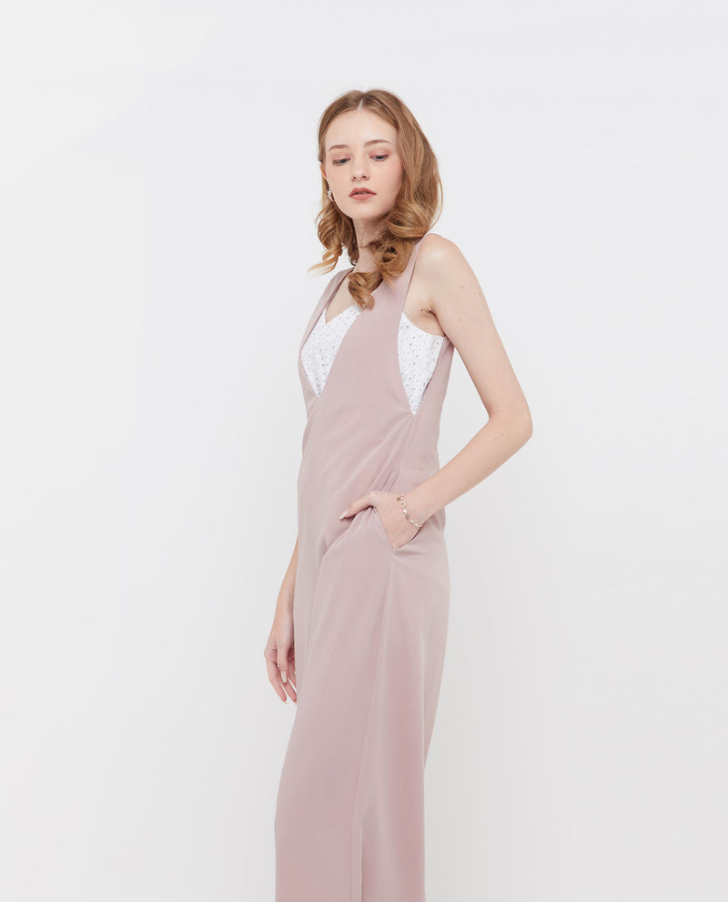 Quartzell V neck Jumpsuit One-piece suits OSMOSE-STORES