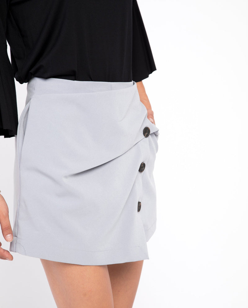 Rae Button Down Skort Bottoms OSMOSE-STORES