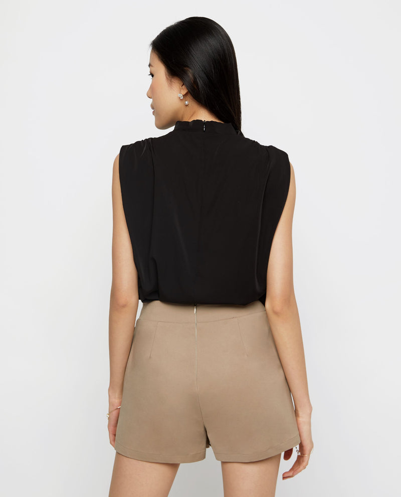 Ressie High Cowl Drape Top Tops OSMOSE-STORES