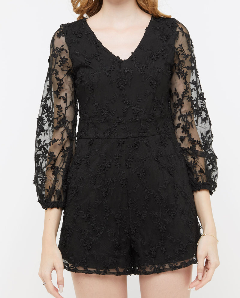 Rosamonde Lace Layered Romper One-piece suits OSMOSE-STORES