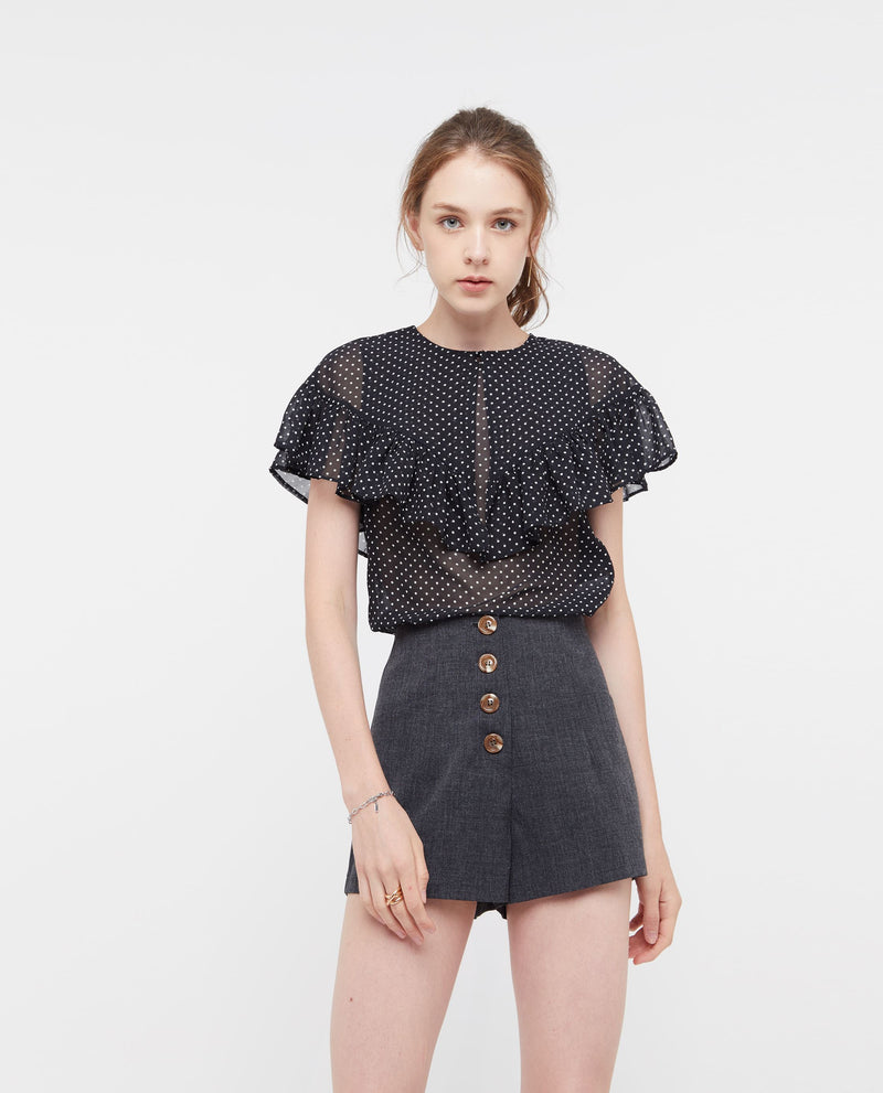 Rosseur Flutter Cape Top Tops OSMOSE-STORES XS Black