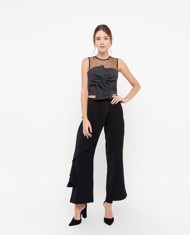 Rylie Flutter Pleat Pants Bottoms OSMOSE-STORES