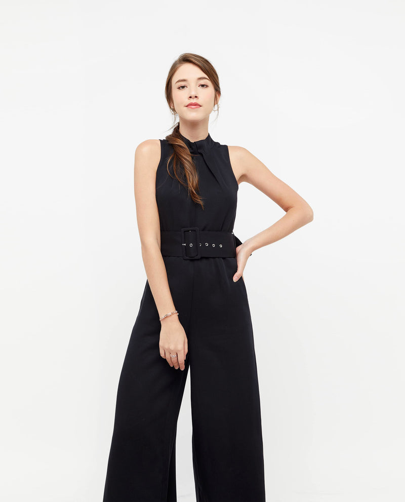 Thordis Belted Jumpsuit One-piece suits OSMOSE-STORES XS Black