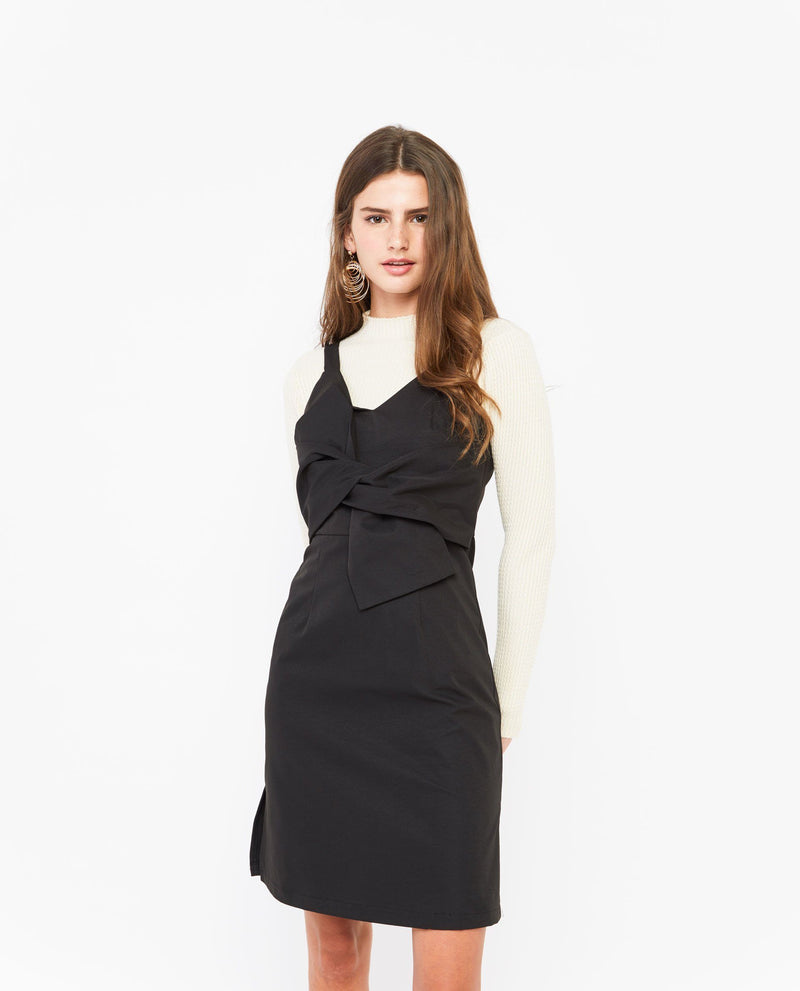 Tinuke Twist Tied Dress Dresses OSMOSE-STORES XS Black