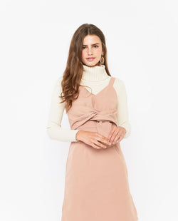 Tinuke Twist Tied Dress Dresses OSMOSE-STORES XS Nude