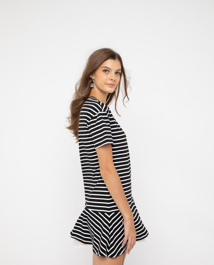 Uien Stripe Mermaid Dress