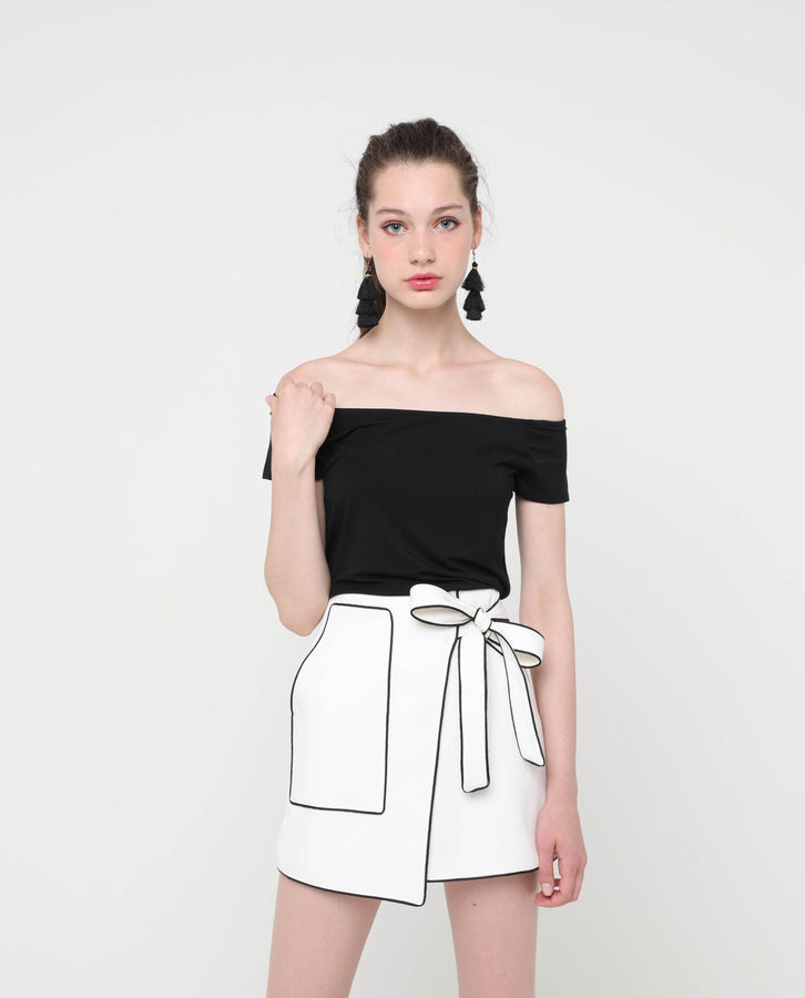 Ulrica Asymmetric Skirt - OSMOSE SINGAPORE FASHION ONLINE SHOPPING