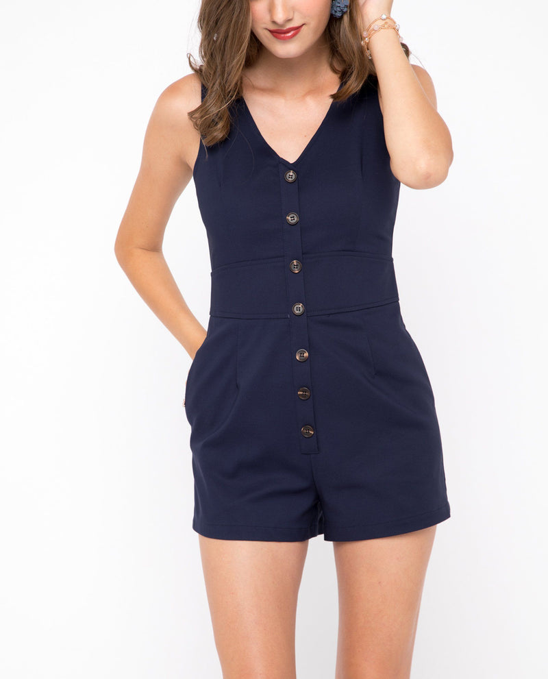 Uonda Button Down Romper One-piece suits OSMOSE-STORES