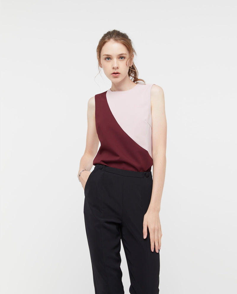 Uqon Colour Block Top Tops OSMOSE-STORES XS Pink
